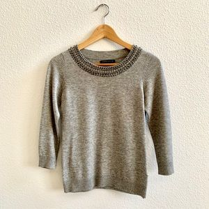 Banana Republic Embellished Neckline Sweater Sz XS